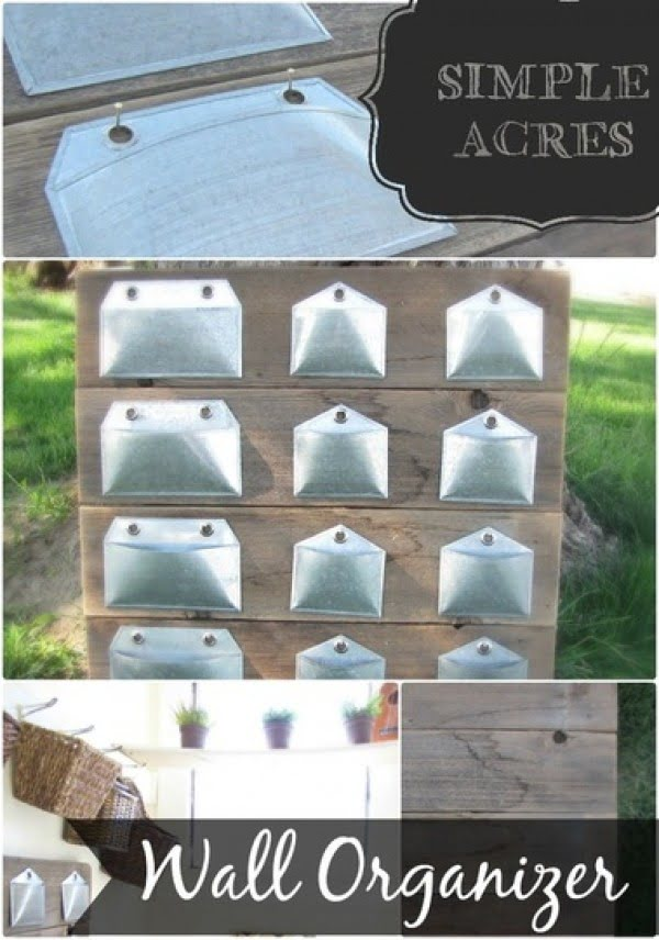 Wall Organizer DIY #DIY #organize #storage #homedecor
