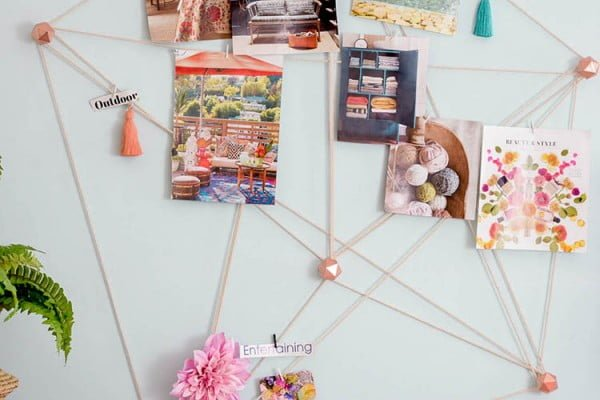 DIY Macrame Wall Organizer #DIY #organize #storage #homedecor