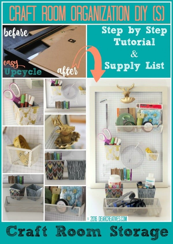Craft Storage #DIY #organize #storage #homedecor
