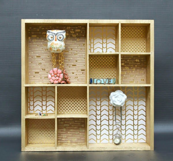 DIY Wall Organizer with Decorative Knobs
