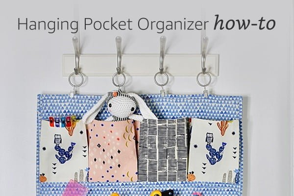 Hanging Pocket Organizer How-To #DIY #organize #storage #homedecor