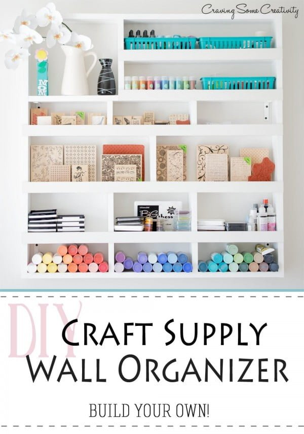 DIY Craft Supply Wall Organization - #DIY #organize #storage #homedecor