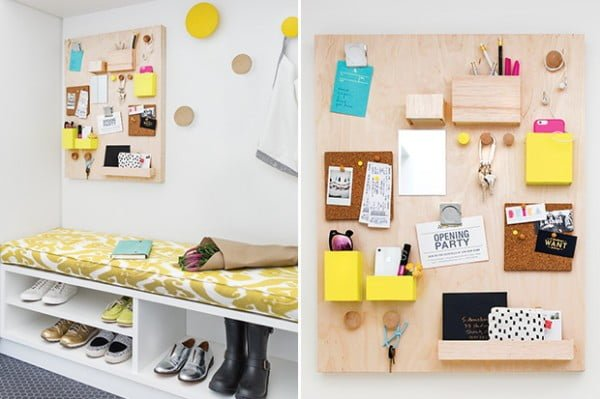 DIY: Modern Wall Organizer #DIY #organize #storage #homedecor