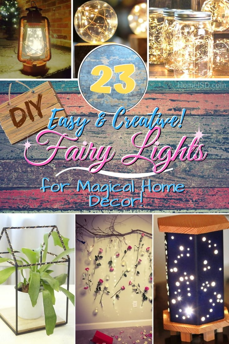 Decorate your home with a little magic with these creative DIY fairy light ideas. Great ideas! #DIY #homedecor #fairylights #crafts