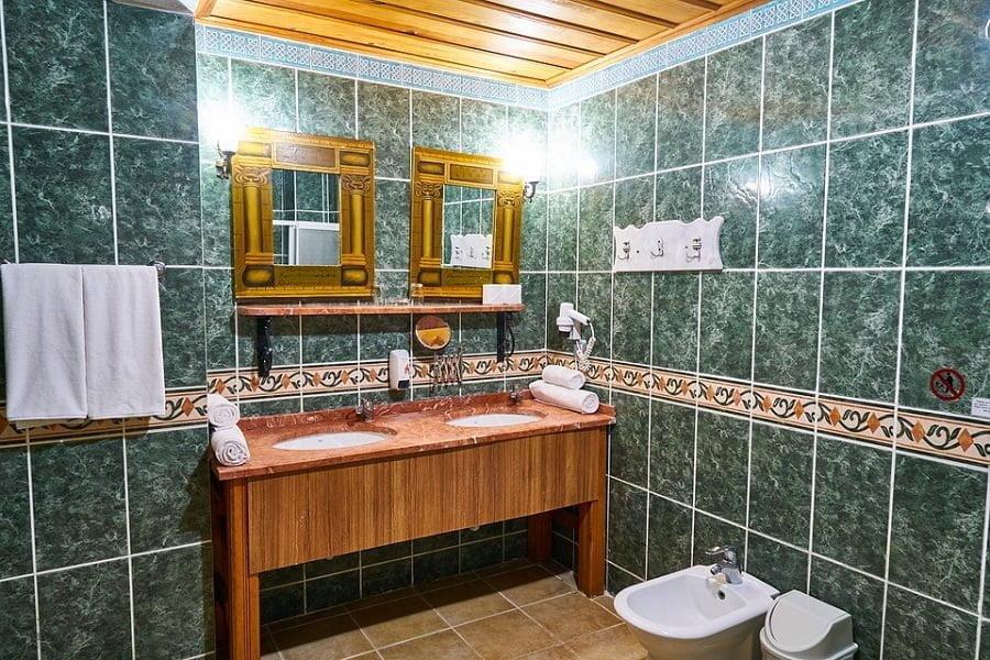 bathroom wood decor