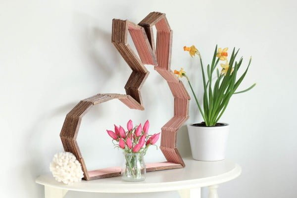 DIY Modern Bunny Wall Decor