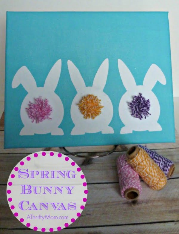 Spring Bunny Canvas Art