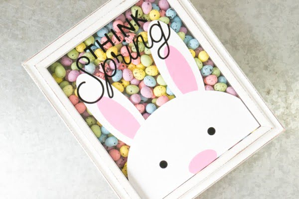 DIY Bunny Vinyl Art for Spring with Free Cutting File