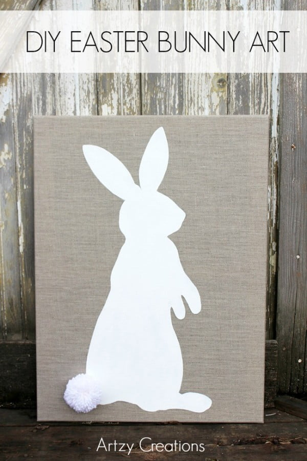 DIY Easter Bunny Art