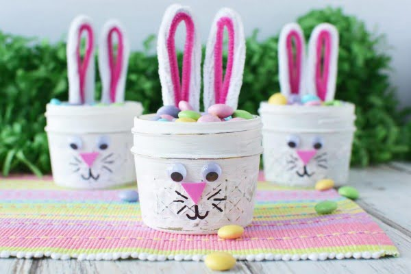 DIY Easter Bunny Jars
