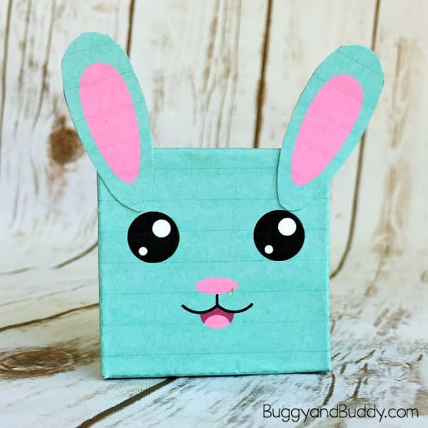 Make a sweet bunny box this Easter using our Free Printable!