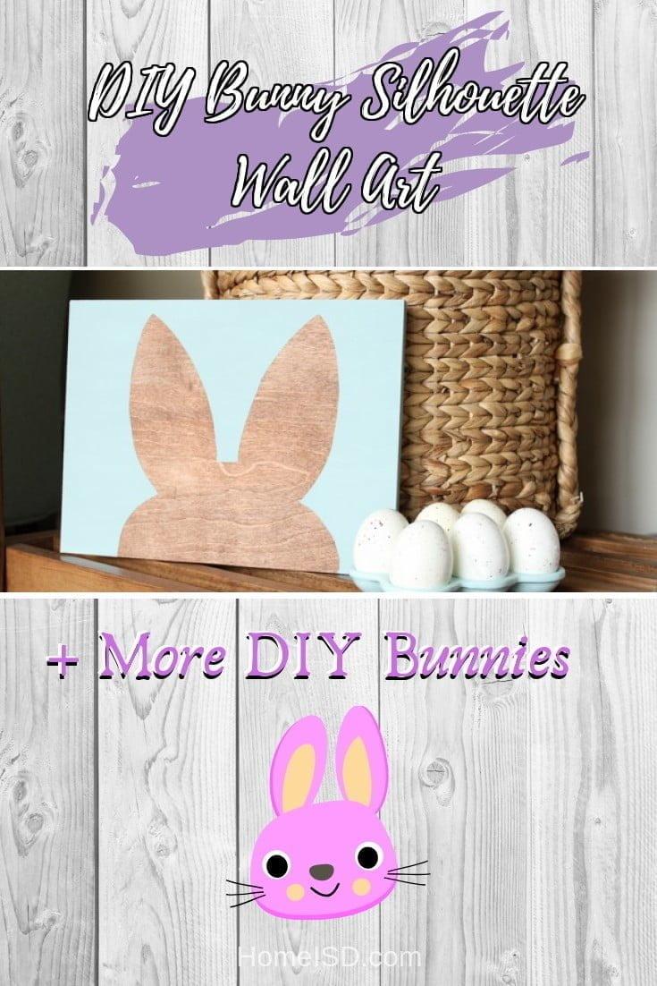 DIY Bunny Silhouette Wall Art  s art