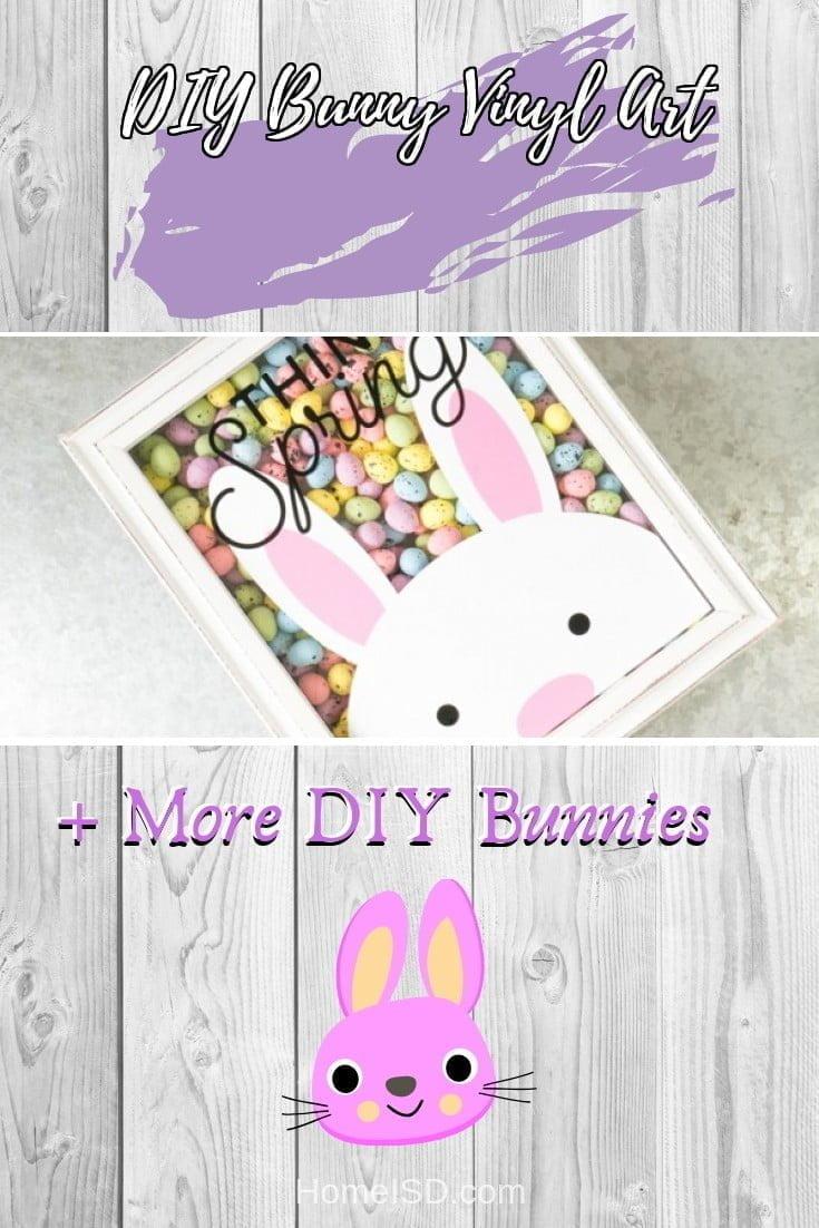 DIY Bunny Vinyl Art  s art