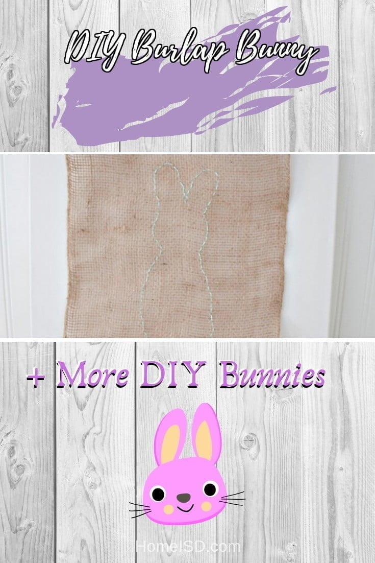 DIY Burlap Bunny  s art