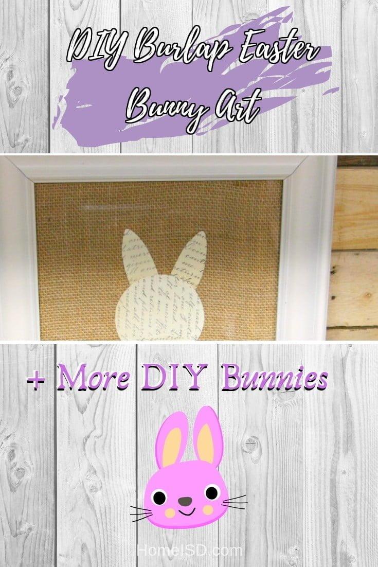DIY Burlap Easter Bunny Art  s art