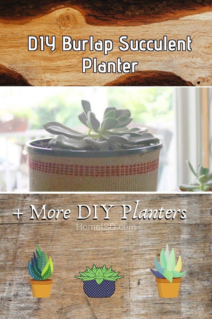 DIY Burlap Succulent Planter
