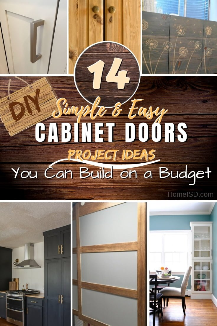 Learn how to build DIY cabinet doors the easy way and save on buying new ones. Great ideas! #DIY #woodworking #furniture