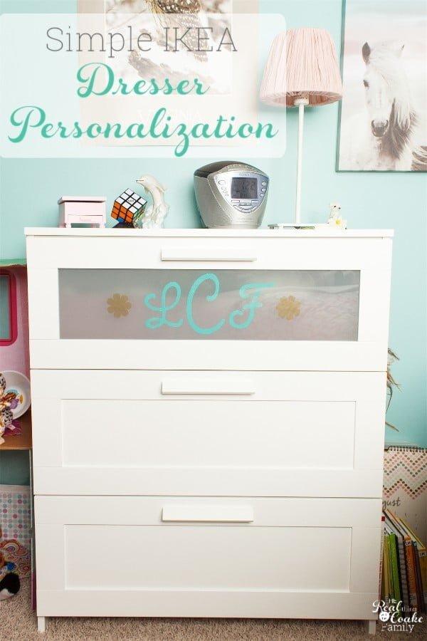 DIY Dresser Personalization an IKEA Hack #DIY #bedroom #furniture #woodworking #dresser