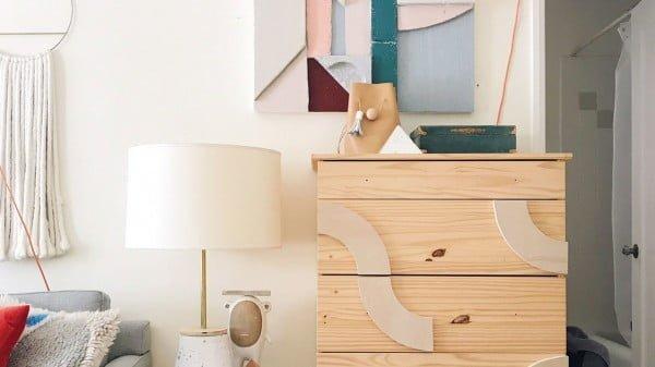 Add This $20 IKEA Dresser Upgrade to Your Weekend To-Do List #DIY #bedroom #furniture #woodworking #dresser