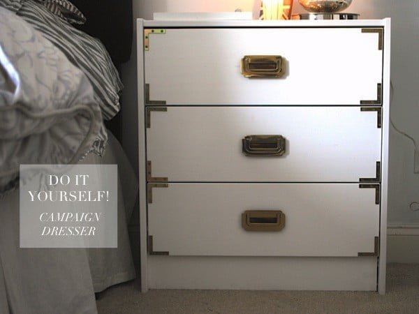 DIY: Campaign Dresser — Hello Adams Family #DIY #bedroom #furniture #woodworking #dresser