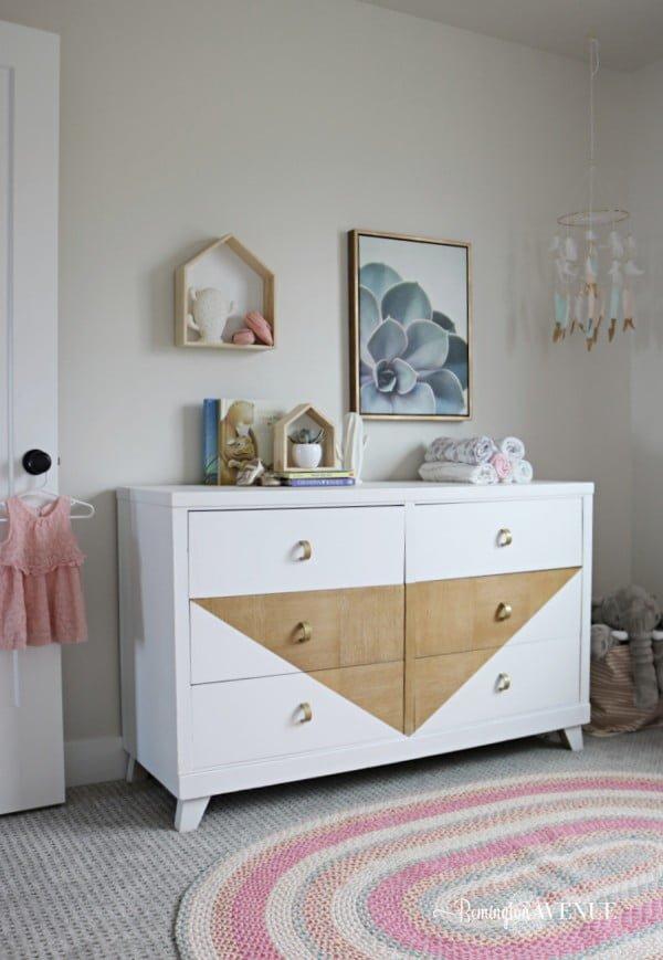 DIY Boho Dresser #DIY #bedroom #furniture #woodworking #dresser
