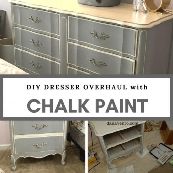 DIY Dresser Overhaul With Chalk Paint #DIY #bedroom #furniture #woodworking #dresser