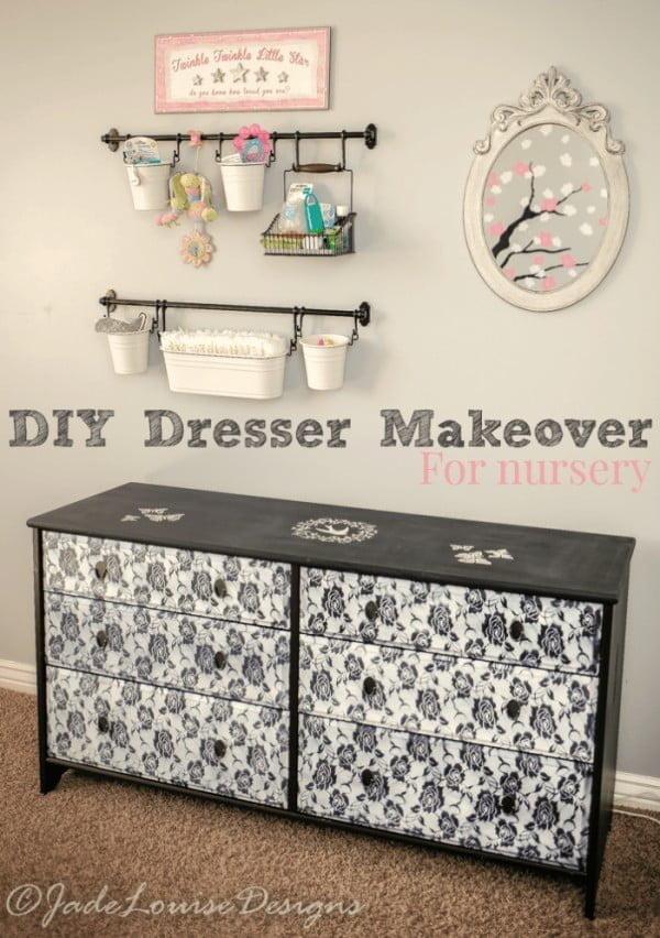 DIY Dresser Makeover for a nursery #DIY #bedroom #furniture #woodworking #dresser