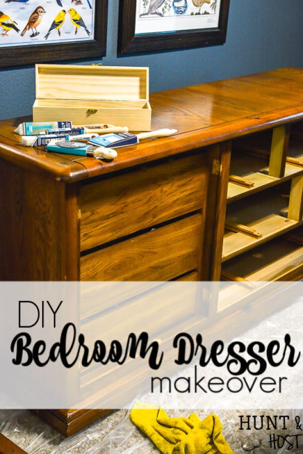 DIY Bedroom Dresser Makeover #DIY #bedroom #furniture #woodworking #dresser