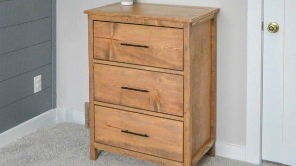 Simple DIY Dresser Plans #DIY #bedroom #furniture #woodworking #dresser