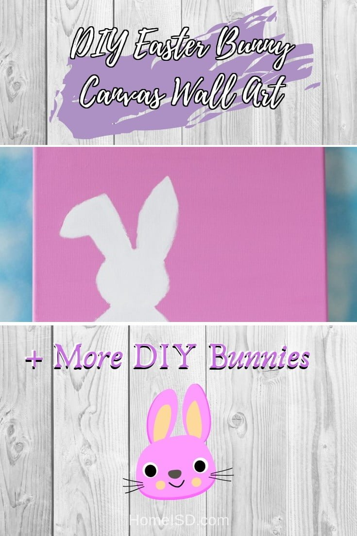 DIY Easter Bunny Canvas Wall Art  s art