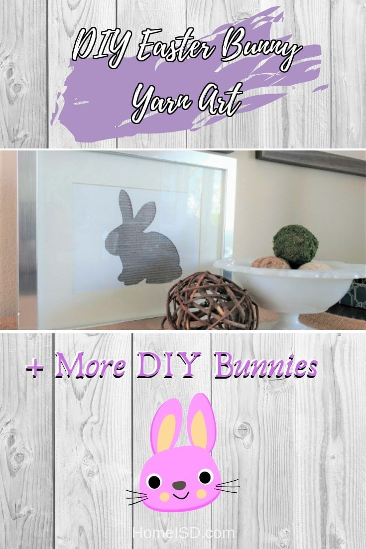 DIY Easter Bunny Yarn Art  s art