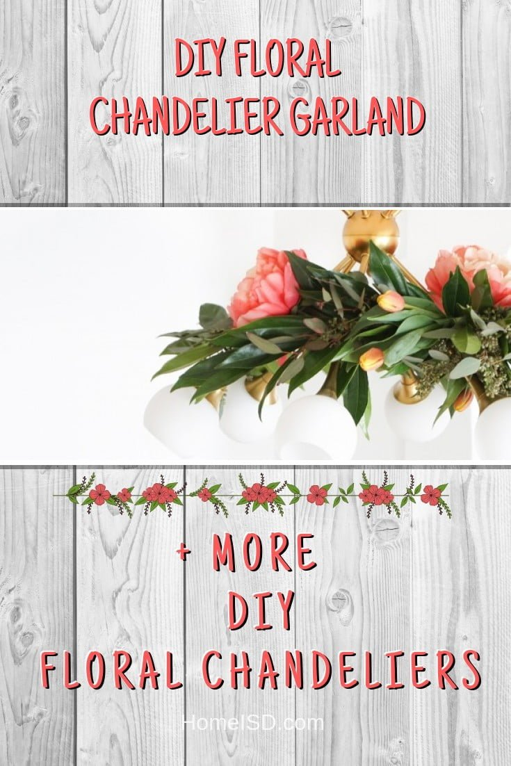 DIY Floral Chandelier Garland #chandelier #DIY #floral #homedecor #craft