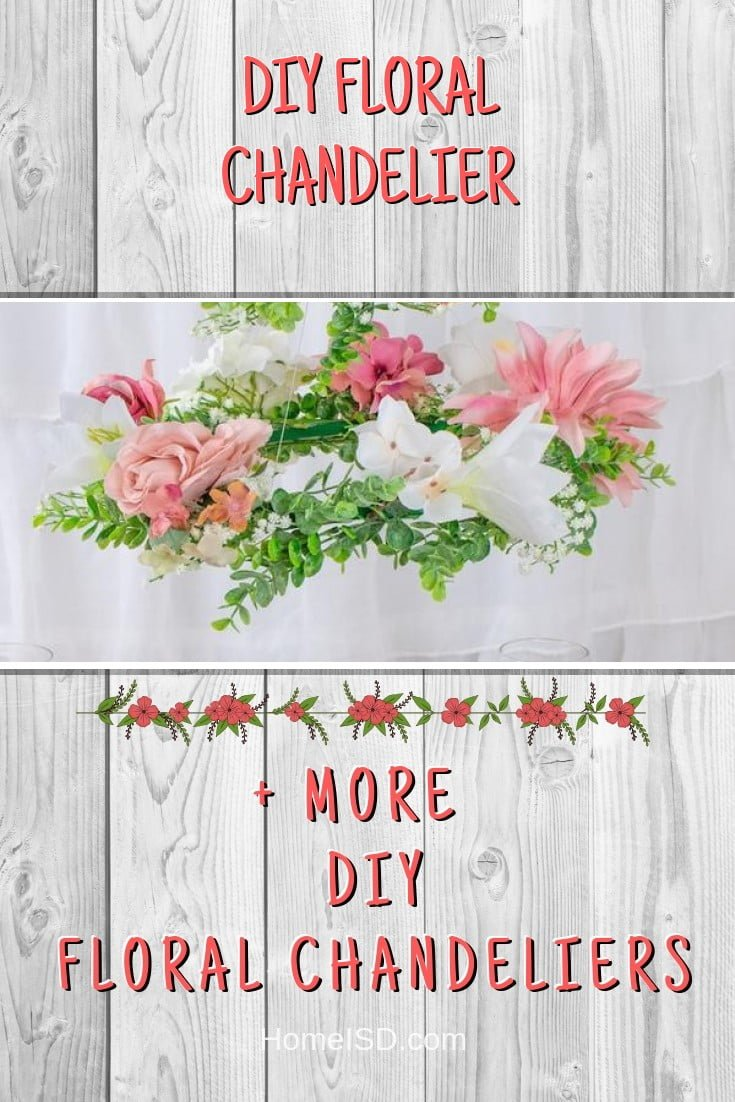 DIY Floral Chandelier #chandelier #DIY #floral #homedecor #craft