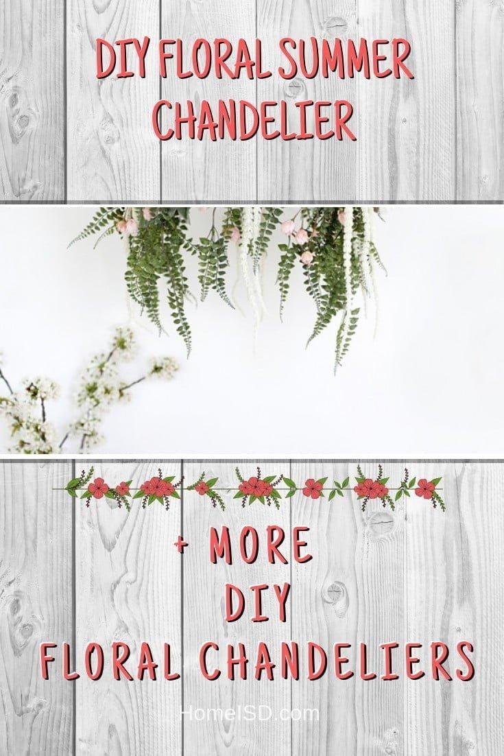 DIY Floral Summer Chandelier