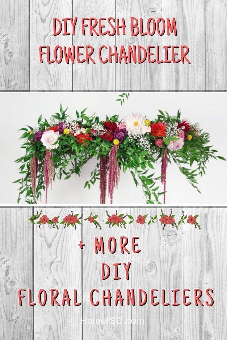 DIY Fresh Bloom Flower Chandelier