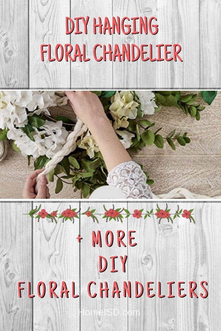 DIY Hanging Floral Chandelier #chandelier #DIY #floral #homedecor #craft