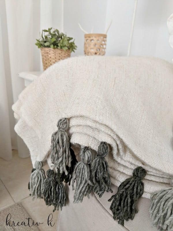 IKEA Hack DIY Tassel Blanket