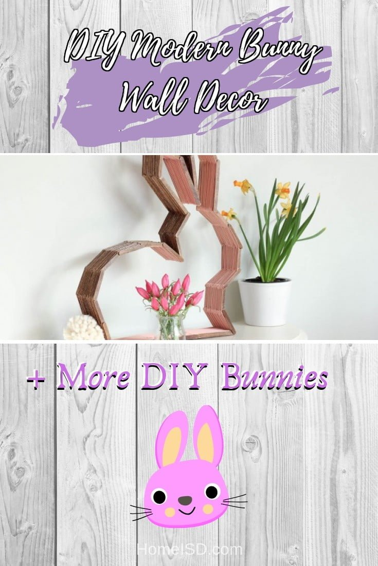 DIY Modern Bunny Wall Decor  s art