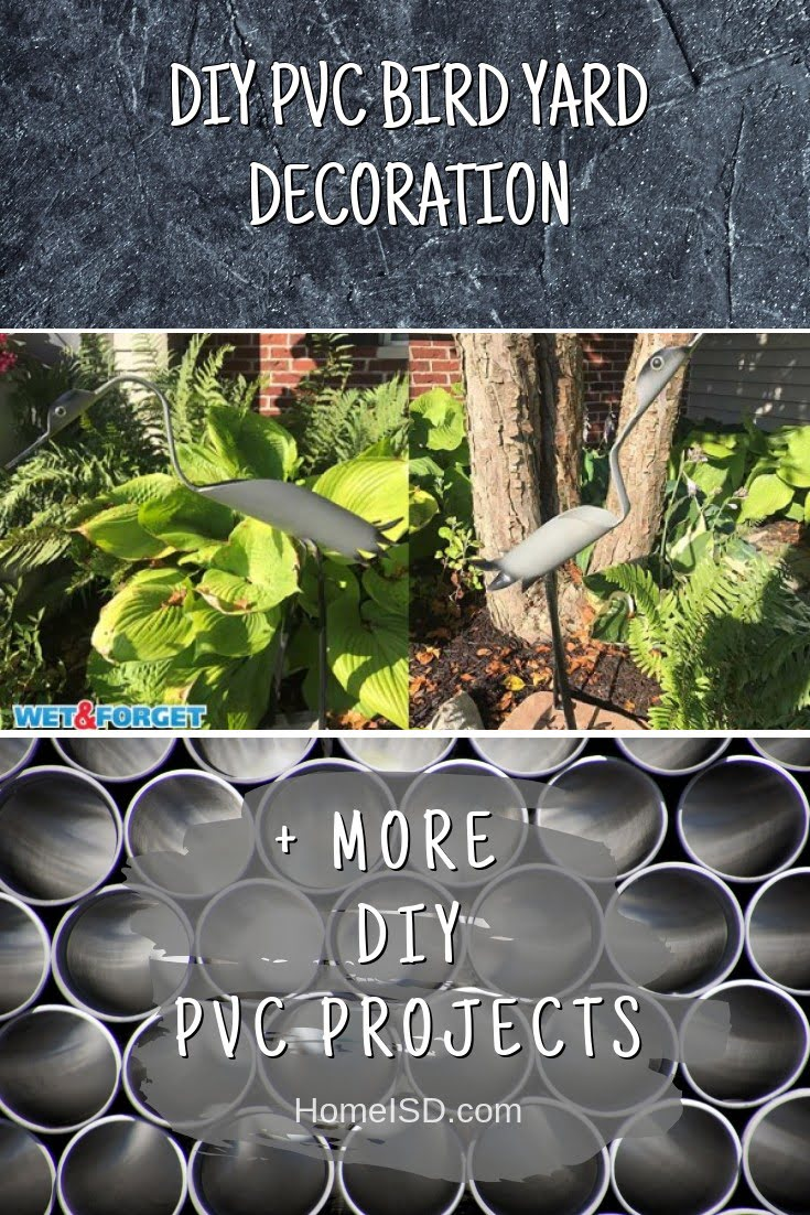 DIY PVC Bird Yard Decoration
