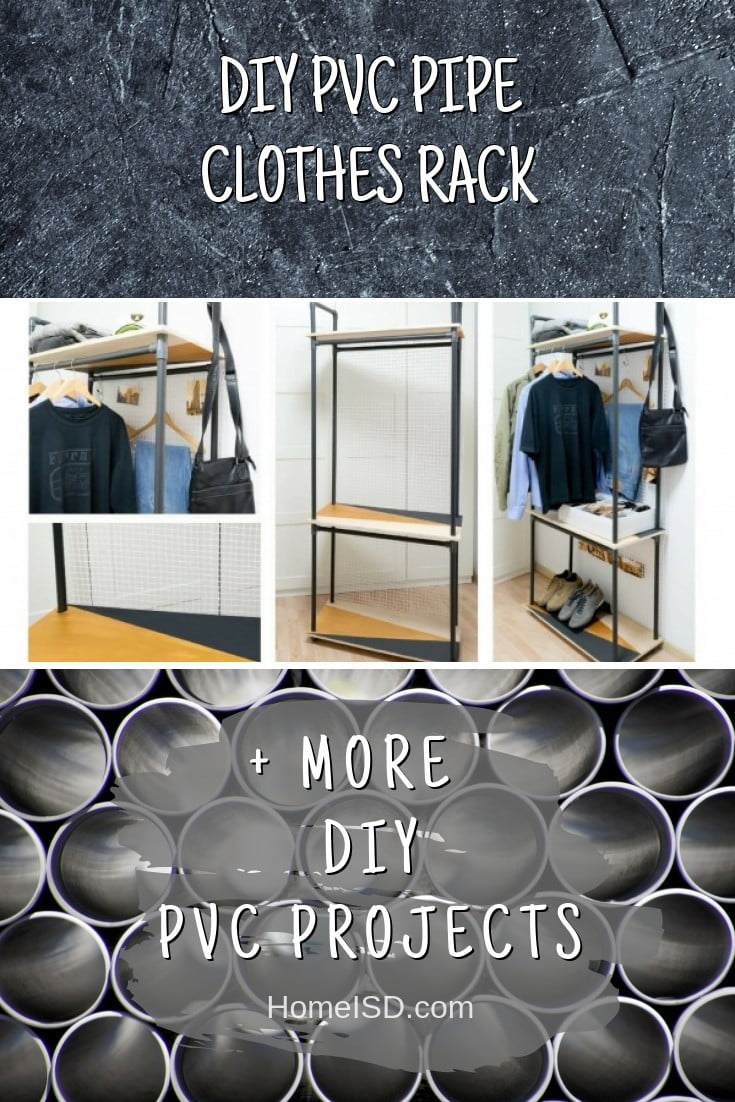 DIY PVC Pipe Clothes Rack