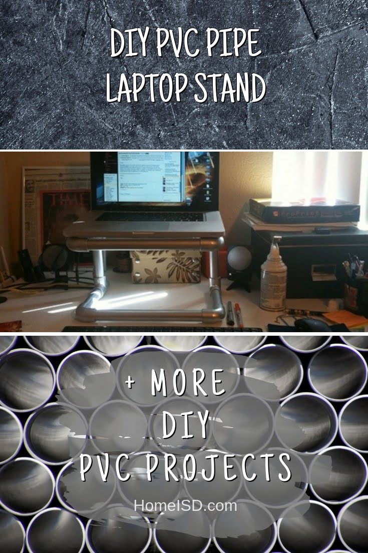 DIY PVC Pipe Laptop Stand