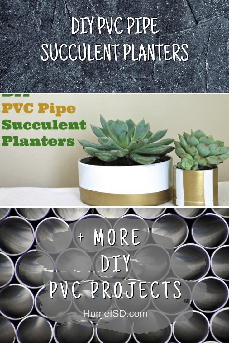 DIY PVC Pipe Succulent Planters #pvc #DIY #craft #homedecor