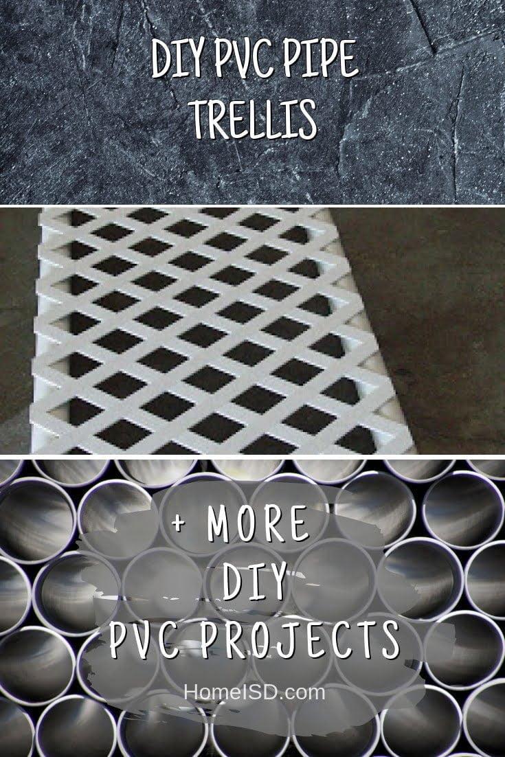 DIY PVC Pipe Trellis #pvc #DIY #craft #homedecor