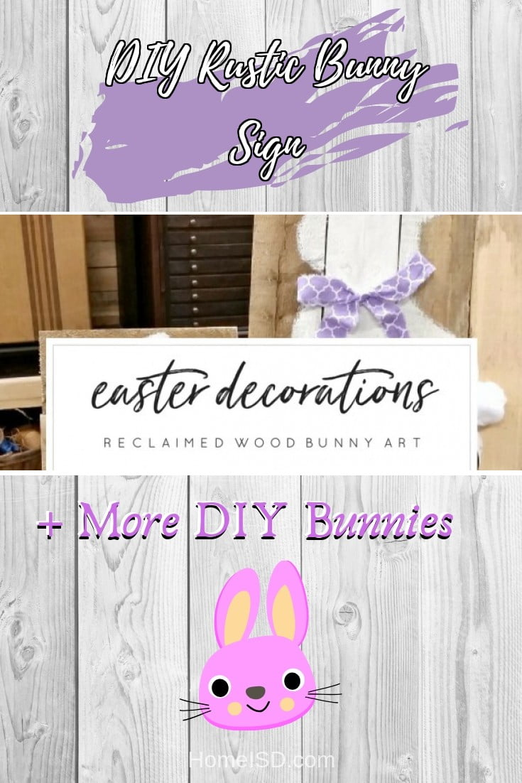 DIY Rustic Bunny Sign  s art