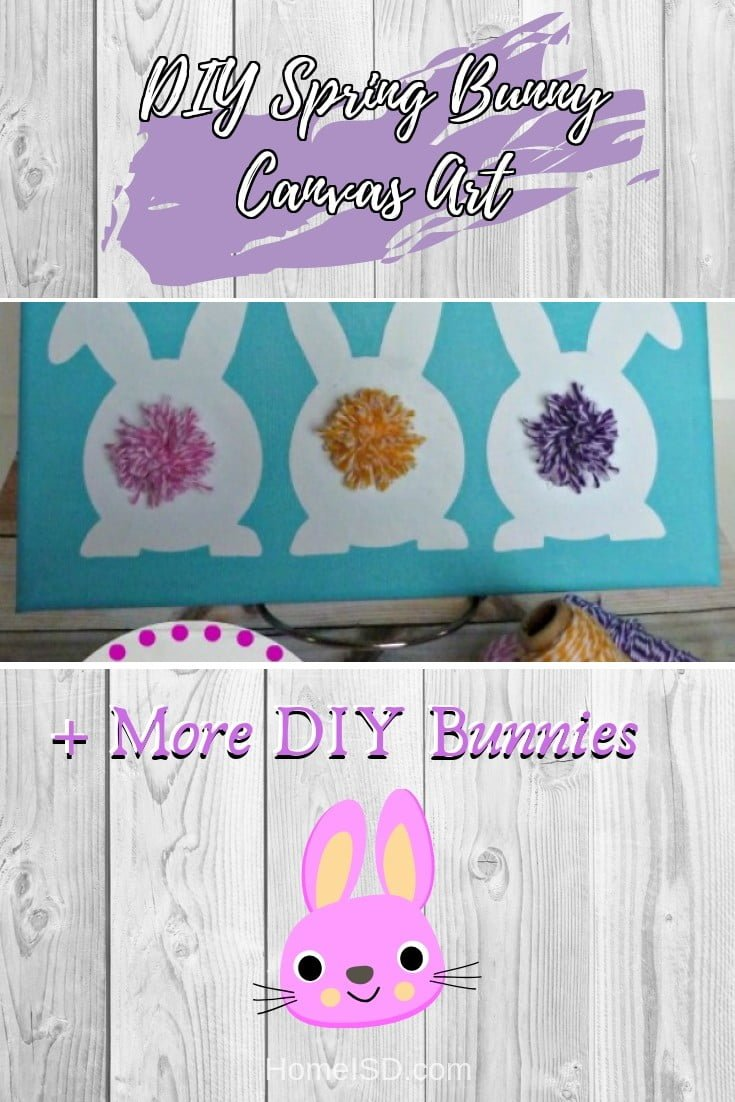 DIY Spring Bunny Canvas Art  s art