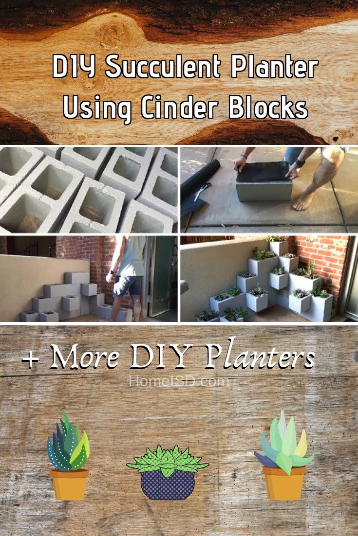DIY Succulent Planter Using Cinder Blocks