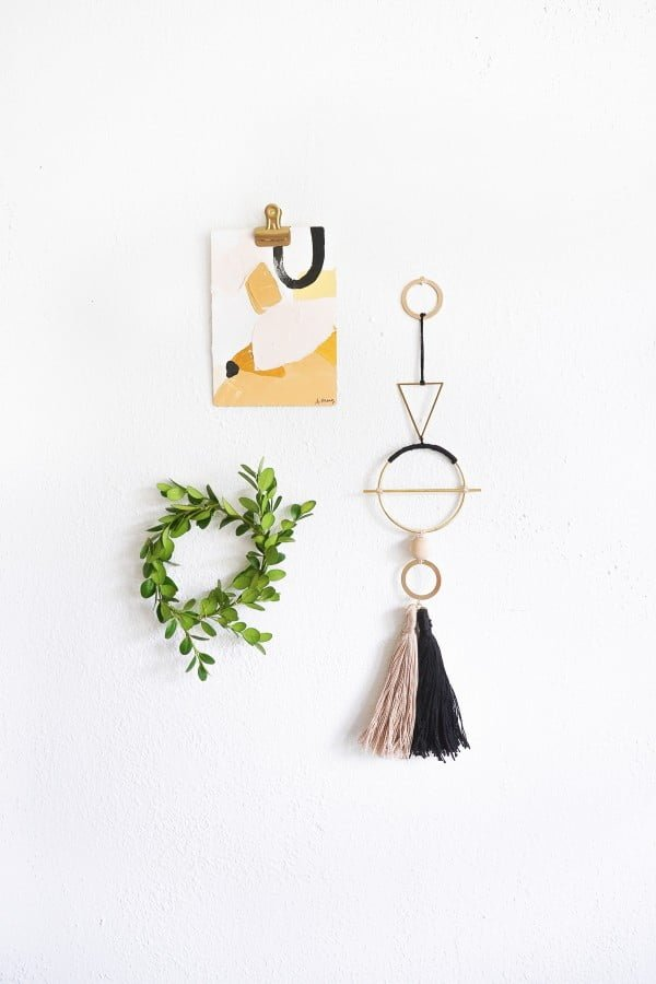 DIY Geometric Metal Wall Hang