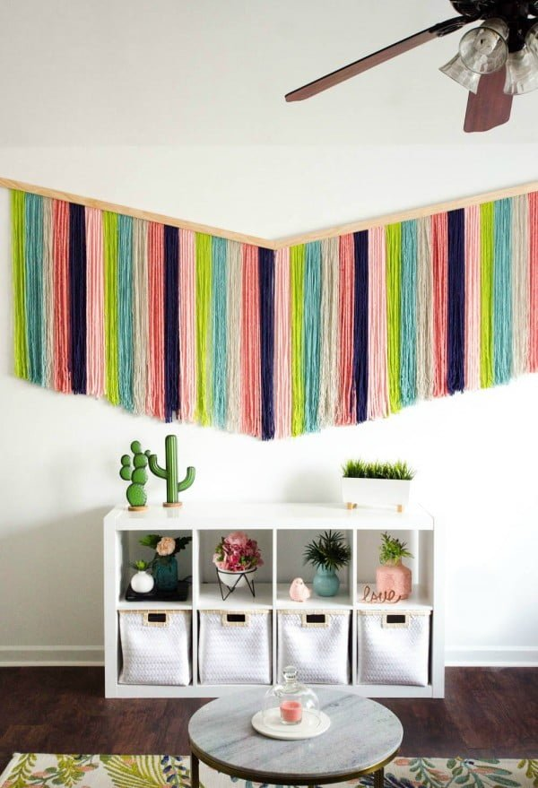 How to make a DIY Yarn Wall Hanging