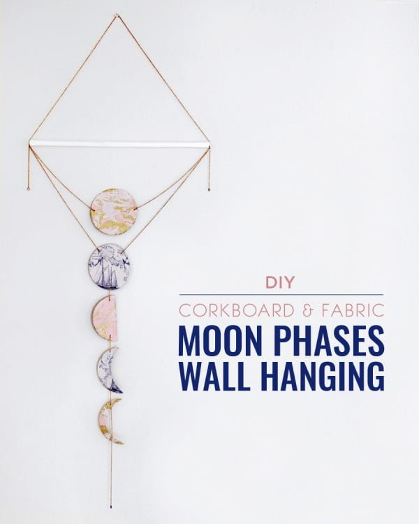DIY Moon Phases Wall Hanging