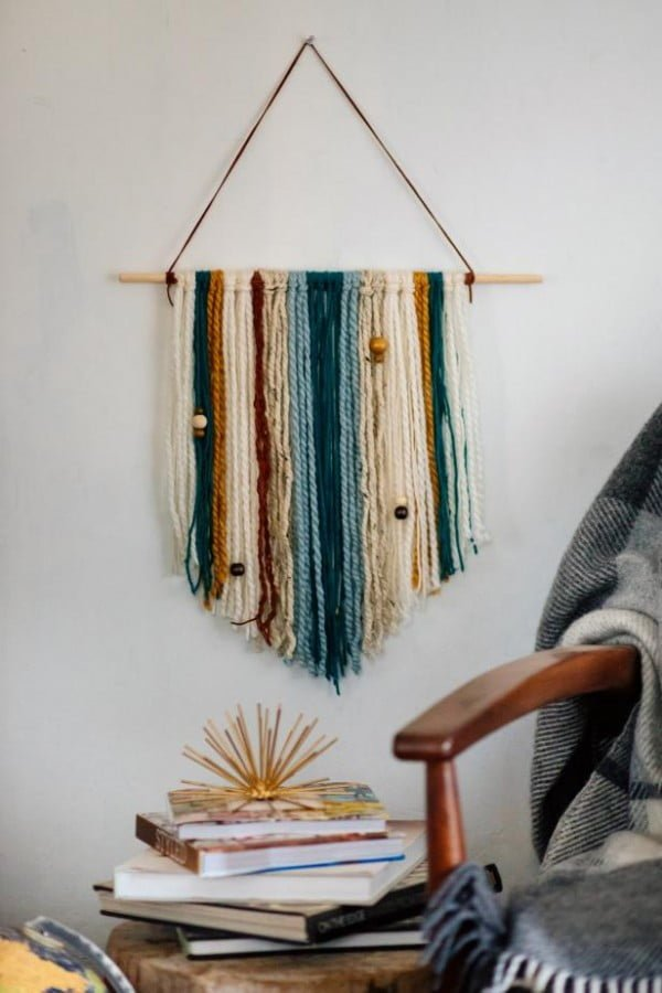 How to Make an Easy DIY Yarn Wall Hanging
